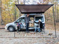 Ford Transit Rv, Ford Transit Camper Conversion, Ford Transit Connect Camper, Van Conversion Interior, Camper Van Conversion Diy, Small Camper Vans, Small Campers, Mini Camper, Suv Camper