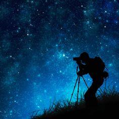 Silhouette Of Photographer Shooting Stars Photograph  - Silhouette Of Photographer Shooting Stars Fine Art Print