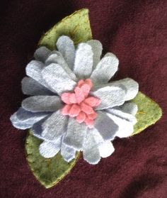 Love fashion accessories? This pink and blue flower will match your casual to dress fashions. by UpcycleDesignsByDana on Etsy