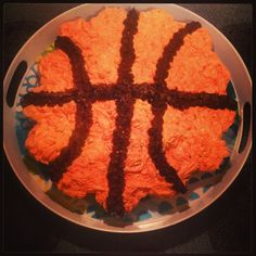 Basketball Cupcake cake I made for a March Madness party.