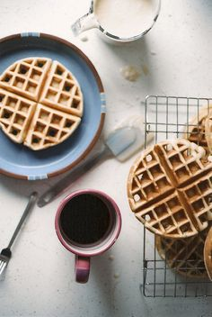 Yes, please. We know a father or three who would appreciate gorgeous waffles and a strong cup of coffee on #FathersDay