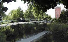 River Soar Bridge by Explorations Architecture& Buro Happold Bridge Structure, Tower Bridge, Thomas Heatherwick, Bridge Design, Pedestrian Bridge, Over The River, River Thames, Design Competitions, Dezeen