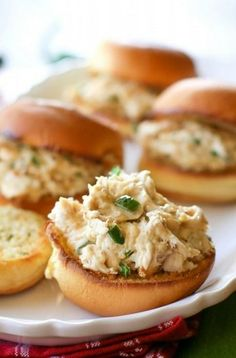Jalapeno Popper Chicken Sliders.  I would change it up a bit and leave off the crumbs and place the mixture on large buns for sandwiches.