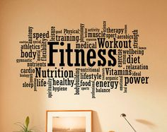 Gym Wall Decal Fitness Wall Stickers Sports Interior Bedroom
