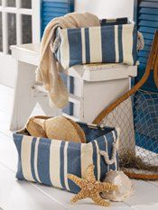 These baskets are keeping my entry closet organized and colorful.