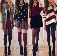 Please.. I want that green jacket and that sweater and those skirts... !!