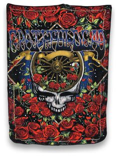 "Grateful Dead 40th Anniversary Micro Raschel Fleece Throw Blanket 50""x 60"" Gift"