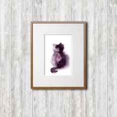 Minimalist Painting, Cat Painting, Original Watercolor Painting, Cat Art, Modern Watercolour Art by CanotStop on Etsy