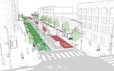 Downtown 1-Way Street | NACTO