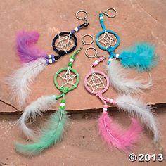 making key chains   Dream Catcher Key Chain Craft Kit - Oriental Trading