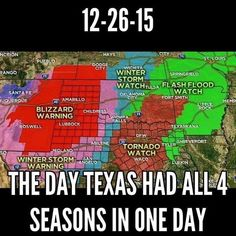 The day Texas had all four seasons in one day. Also the day that a tornado ripped through Garland and Rowlett, Texas. It was a day/night I will never forget. Texas Humor, Texas Funny, Texas Meme, Texas Weather, Only In Texas, Texas Forever, Loving Texas, Texas Pride, Texas History
