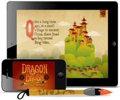 'Dragon Brush' for iPad and iPhone from John Solimine (illustrator who created our wedding invitation poster)