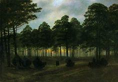"Caspar David Friedrich, ""Evening"" (c. 1821)"
