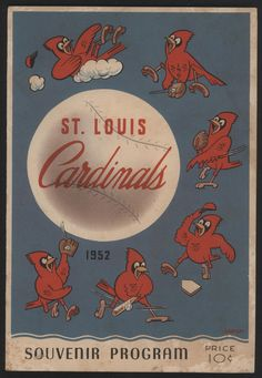 1952 St Louis Cardinals Scorecard