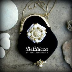 Snow Queen #brooch and #purse from the #GreatEmpire collection by #BoChicca #chic #fashion #fashionista #style