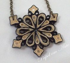 Colar de Quilling - Quilled Necklace