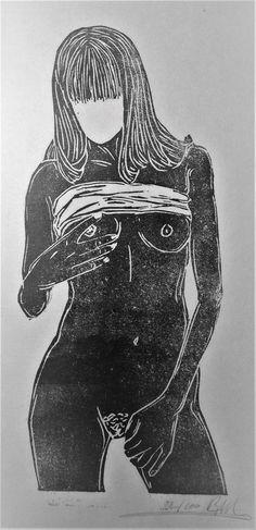 linogravure  maria  par CecileBgravures sur Etsy