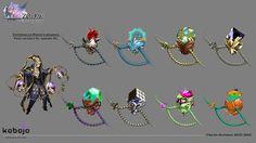 Zodiac: Orcanon Odyssey Pisces, weapon-design.