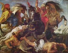 The Hippopotamus and Crocodile Hunt by Peter Paul Rubens