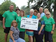 Michigan Memorial Park (MMP) Walking Club raised $1800 for the charity of their choice -- Bladder Cancer Advocacy Network (BCAN).  Great job walkers!!!