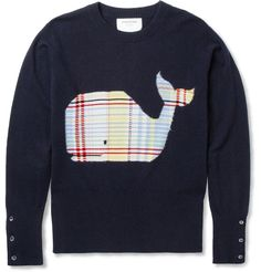 Thom Browne – Slim Fit Whale Intarsia Cashmere Sweater