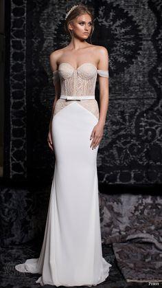 persy bridal fall 2016 off shoulder sweetheart column wedding dress (05) mv