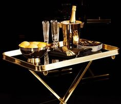Elegant black and gold ralph lauren home one fifth collection - sophisticated decor via mylusciouslife