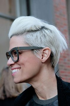 Short hair rawks. And when its silver grey well I'm just sayin' :)