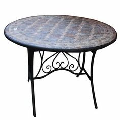 Purchase Solid Colorful Round Mosaic Table, Multicolor from Benzara Inc on OpenSky. Outdoor Side Table, Wooden Side Table, Solid Wood Dining Table, Patio Tables, Rattan Coffee Table, Round Table Top, Bistro, Home Decor Accessories, Decoration