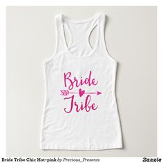 Bride Tribe Chic Hot+pink T-shirt