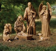 HUGE selection of outdoor christmas yard art and nativity sets - all with an inspirational theme! Remember the REAL reason for the Christmas season! Pebble Painting, Pebble Art, Stone Painting, Christmas Nativity Scene, Nativity Scenes, Outdoor Nativity Sets, Ladybug Rocks, O Holy Night, Ribbon Sculpture