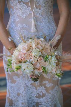 1920's Inspired Glamorous Celebration on Borrowed & Blue.  Photo Credit: Dennis Kwan Weddings I Urban Earth Design Studios Floral and Wedding Decor I Michelle Adams