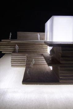 acrílico y madera, observatorio, movimiento. 2016.