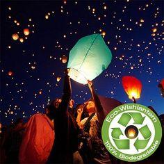 Eco Colored Wish Lantern 5 Pack