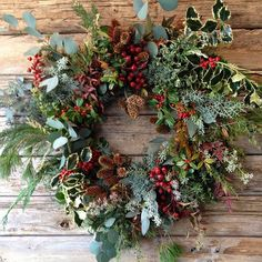 natural home & holiday decor kinfolk event via sfgirlbybay design &… Wreaths And Garlands, Autumn Wreaths, Holiday Wreaths, Holiday Decor, Fall Decor, Christmas Flowers, Noel Christmas, Christmas Crafts, Diy Wreath