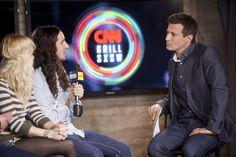 Scenes from the CNN Grill: Walk off the Earth interview with AJ Hammer //  photo via  Edward M. Pio Roda at CNN
