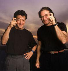 Dustin Hoffman and Robin Williams