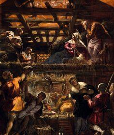 Tintoretto, Adorazione dei pastori, Salone, Scuola Grande di San Rocco. Courtesy of Franco Cosimo Panini Editore.