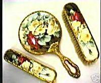 Antique Victorian Porcelain Backed Vanity Sets