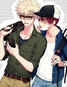 #MyHeroAcademia #Dessin #Fanart ul8nl #ShoutoTodoroki #KatsukiBakugou #Manga #Anime