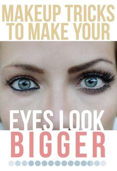 Makeup Tricks To Make Your Eyes Look Bigger .. pinterest: katepisors