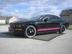 Black mustang with pink stripes. One day....