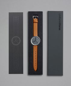 Simple timepiece with minimal packaging design