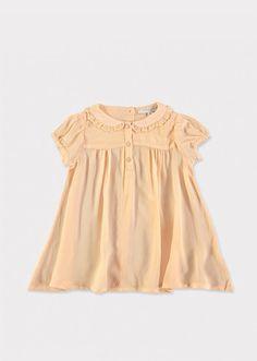 Calamint Baby Dress, Peach