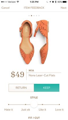 Mia Nona laser cut flats. Stitch fix #3