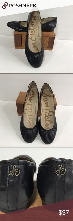 SAM EDELMAN BLACK LEATHER CLASSIC BALLET FLATS 💜 SAM EDELMAN BLACK LEATHER BALLET FLATS . The perfect classic Ballet Flat with Sam Edelman style and quality . Signature Sam Edelman logo on the heel. Leather upper and lining . Preloved in very good condition. Size 9 Sam Edelman Shoes Flats & Loafers