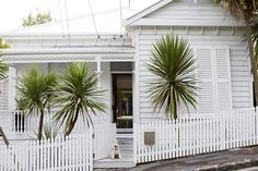 Mixing modern and the exotic decor, this home captures the atmosphere of a tropical retreat. Queenslander House, Weatherboard House, Case Creole, Colonial, New Zealand Architecture, Cottage Homes, Wood Cottage, White Cottage, Indoor Outdoor