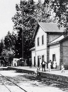 Estación del tren de Suburbano. La línea estaba situada cercana a la costa. Málaga, Spain.