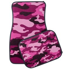 Purple and Pink Camouflage Custom Add A Name Floor Mat Set - Looking for something unique to add a little personality to your vehicle? Make a statement with this complete custom floor mat set! Unique and custom floor mats for your vehicle.