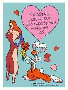 The Roger and Jessica Rabbit Valentine's Day Card  ImNotBad.com